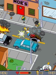 juego gratis interned simpson: